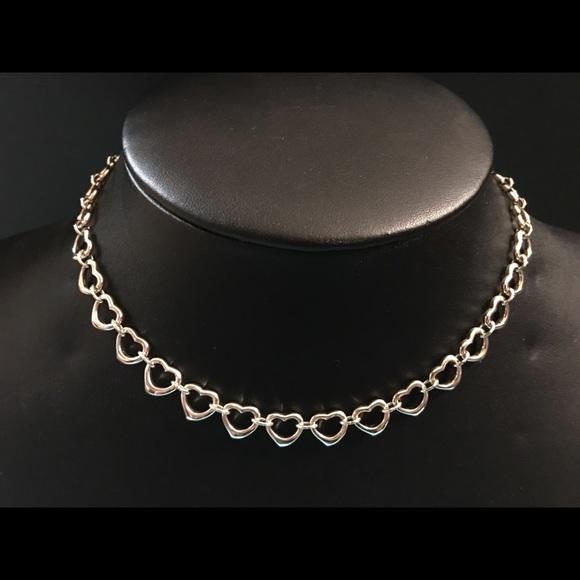 03dc346b6 Tiffany Co Elsa Peretti open Heart link Necklace. M_5ada069445b30cff5fba19fb